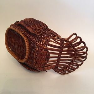 None Holiday - Turkey Wicker Basket Thanksgiving Decor